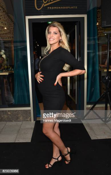 Sarah Nowak attends the 'Cotidiano Restaurant Opening' on July 20 2017 in Munich Germany