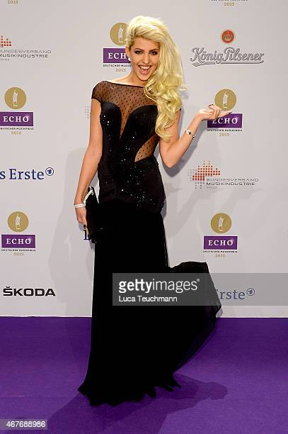 Sarah Nowak attends the Echo Award 2015 Red Carpet Arrivals on March 26 2015 in Berlin Germany