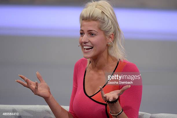Sarah Nowak attends the final show of Promi Big Brother 2015 at MMC studios on August 28 2015 in Cologne Germany