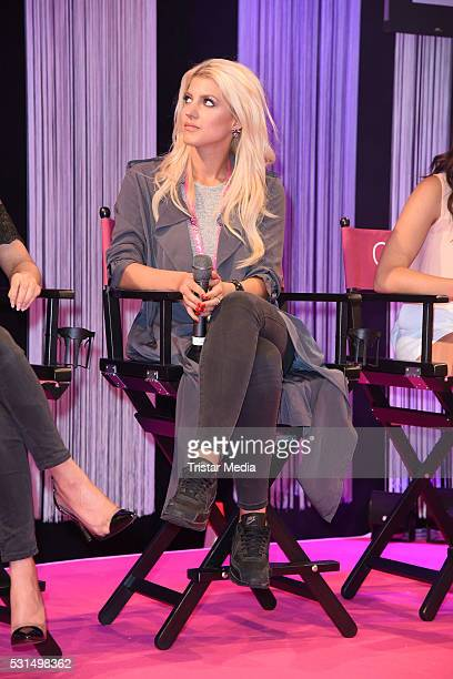 Sarah Nowak attends the 'GLOW The Beauty Convention' on May 14 2016 in Stuttgart Germany