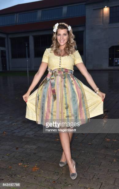 Sarah Nowak during the Angermeier Trachten Nacht at Alte Kongresshalle on September 6 2017 in Munich Germany