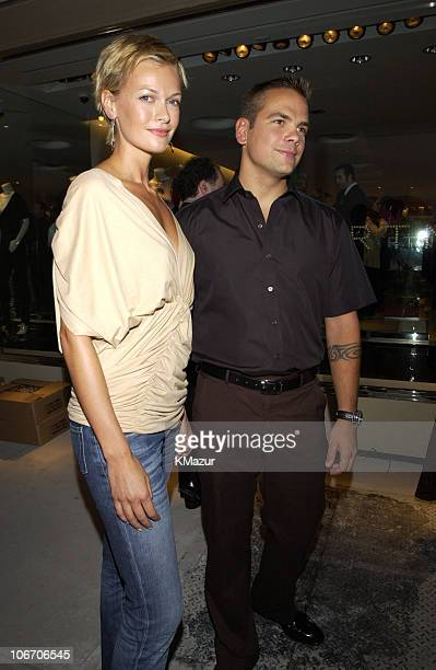 Sarah O'Hare and Lachlan Murdoch during Mercedes Benz Fashion Week 2003 Opening of the First Stella McCartney Store Worldwide at Stella McCartney...
