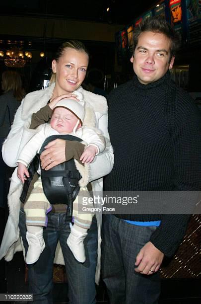 Sarah O'Hare Murdoch and Lachlan Murdoch and their baby boy Kalan