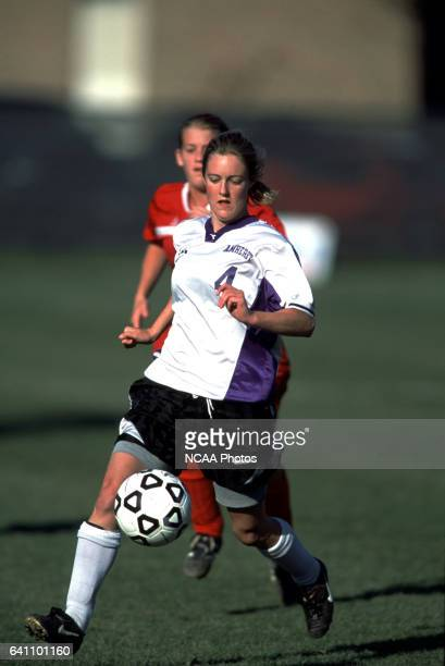 Sarah O'Keefe of Amherst College dribbles the ball during the Divison 3 Women's Soccer Championships held at Roy Rike Field on the campus of Ohio...