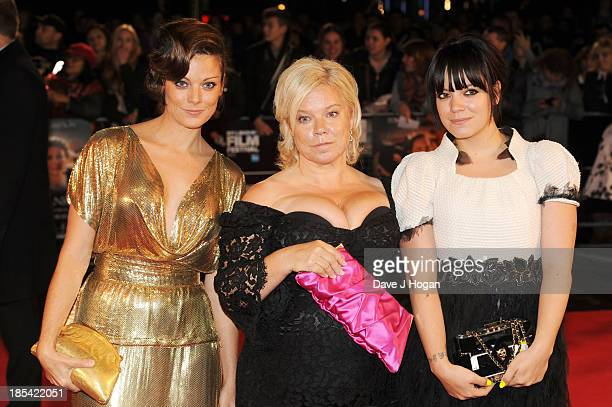 Sarah Owen Alison Owen and Lily Allen attend the Closing Night Gala European Premiere of 'Saving Mr Banks' on the closing night gala during the 57th...