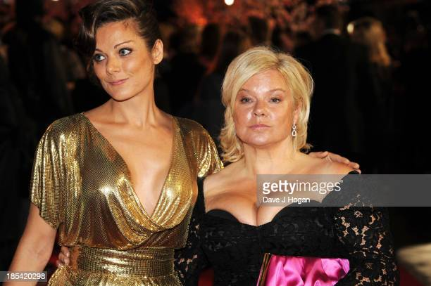 Sarah Owen and Alison Owen attend the Closing Night Gala European Premiere of 'Saving Mr Banks' on the closing night gala during the 57th BFI London...