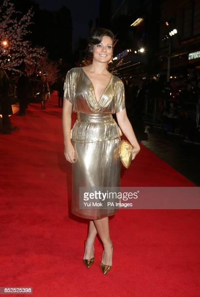 Sarah Owen at the gala screening of Saving Mr Banks the closing film of the 57th BFI London Film Festival at Odeon Leicester Square London