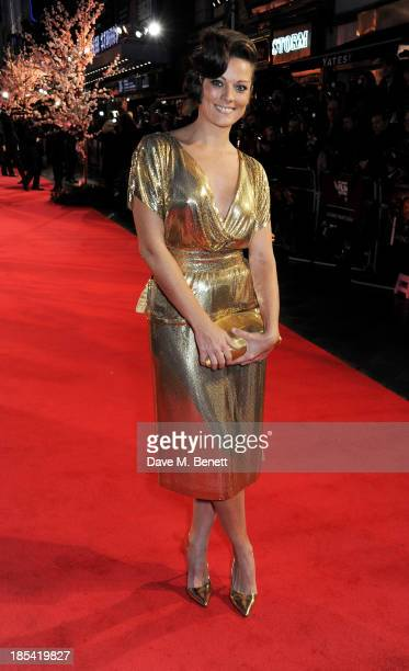 Sarah Owen attends the Closing Night Gala European Premiere of Saving Mr Banks during the 57th BFI London Film Festival at Odeon Leicester Square on...