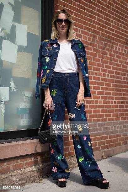 Sarah Owen is seen attending Tibi during New York Fashion Week on September 10 2016 in New York City