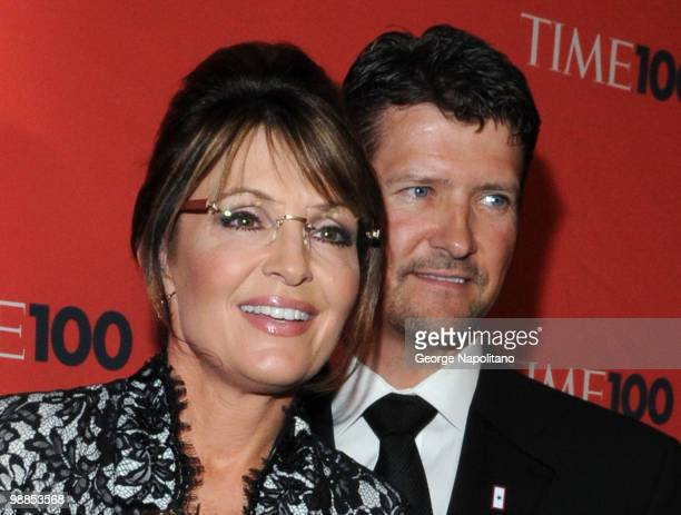 Sarah Palin and Todd Palin attend the 2010 TIME 100 Gala at the Time Warner Center on May 4 2010 in New York City