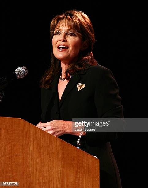 Sarah Palin speaks at Winning America Back at the Independence Events Center on May 1 2010 in Independence Missouri