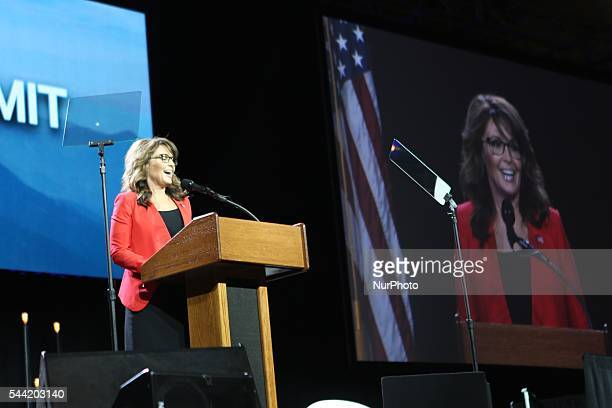 Sarah Palin speaks during the Western Conservative Summit at Colorado Convention Center in Denver Colorado United States on July 1 2016