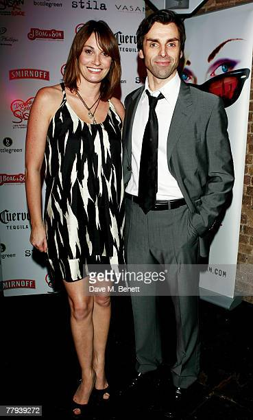 Sarah Parish and Jonathan Wrather attend the after party following the press night of Desperately Seeking Susan at Heaven on November 15 2007 in...