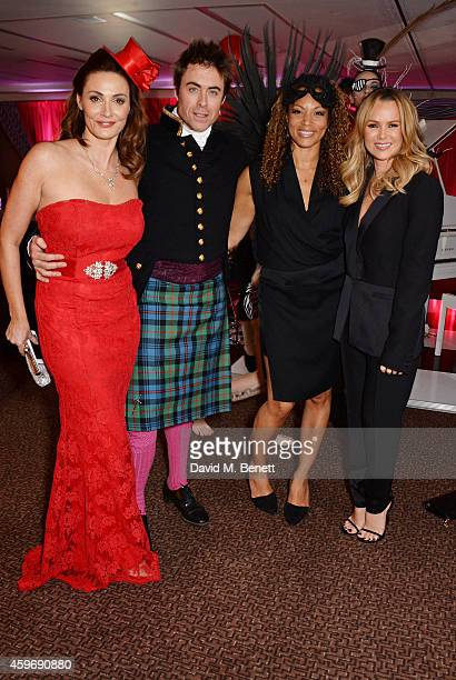 Sarah Parish James Murray Angela Griffin and Amanda Holden attend 'The Odd Ball' 'hosted by The Murray Parish Trust at The Royal Garden Hotel on...