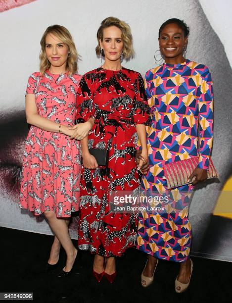 Sarah Paulson Adina Porter and Leslie Grossman attend the 'American Horror Story Cult' For Your Consideration Event at The WGA Theater on April 6...