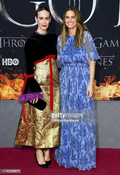 Sarah Paulson and Amanda Peet attend the Game Of Thrones Season 8 Premiere on April 03 2019 in New York City