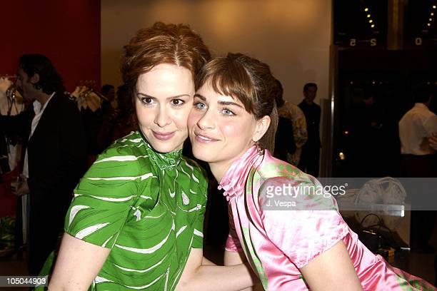 df20170cd1b9 Sarah Paulson and Amanda Peet during Miu Miu Party for IFP Los Angeles  Filmmaker Labs at