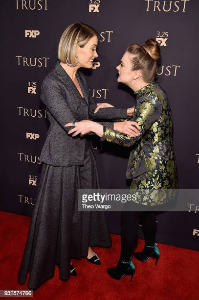 Sarah Paulson and Billie Lourd attend the 2018 FX Annual AllStar Party at SVA Theater on March 15 2018 in New York City