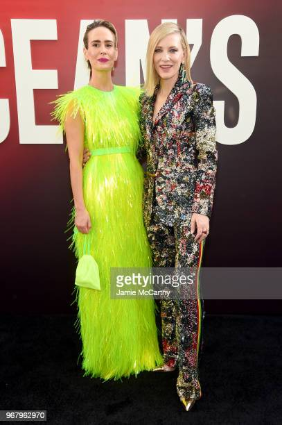 Sarah Paulson and Cate Blanchett attend the 'Ocean's 8' World Premiere at Alice Tully Hall on June 5 2018 in New York City