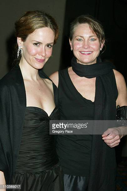 Sarah Paulson and Cherry Jones during 59th Annual Tony Awards After Party at Marriott Marquis in New York City New York United States
