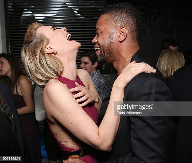 Sarah Paulson and Cuba Gooding Jr attend the after party for the Premiere Of FX's 'American Crime Story The People V OJ Simpson' at the W Hotel on...