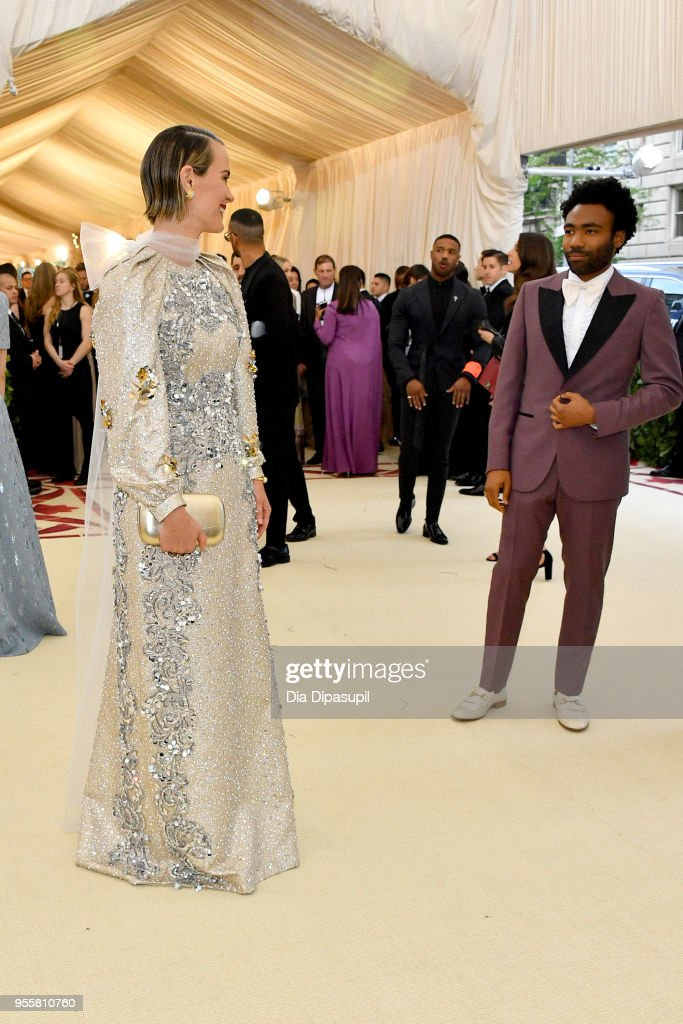 Sarah Paulson and Donald Glover attend the Heavenly Bodies: Fashion & The Catholic Imagination Costume Institute Gala at The Metropolitan Museum of Art on May 7, 2018 in New York City.