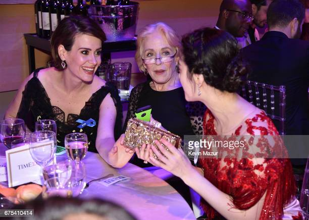 Sarah Paulson and Holland Taylor attend 2017 Time 100 Gala at Jazz at Lincoln Center on April 25 2017 in New York City