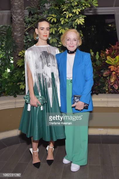 Sarah Paulson and Holland Taylor attend ELLE's 25th Annual Women In Hollywood Celebration presented by L'Oreal Paris Hearts On Fire and CALVIN KLEIN...