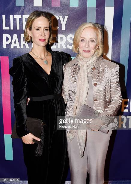 Sarah Paulson and Holland Taylor attend the 2018 Literacy Partners Gala at Cipriani Wall Street on March 14, 2018 in New York City.