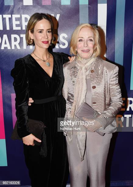 Sarah Paulson and Holland Taylor attend the 2018 Literacy Partners Gala at Cipriani Wall Street on March 14 2018 in New York City