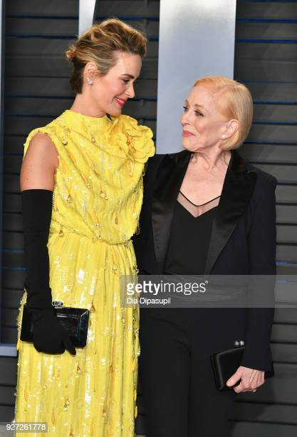 Sarah Paulson and Holland Taylor attend the 2018 Vanity Fair Oscar Party hosted by Radhika Jones at Wallis Annenberg Center for the Performing Arts...