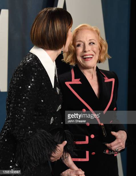 Sarah Paulson and Holland Taylor attend the 2020 Vanity Fair Oscar Party hosted by Radhika Jones at Wallis Annenberg Center for the Performing Arts...