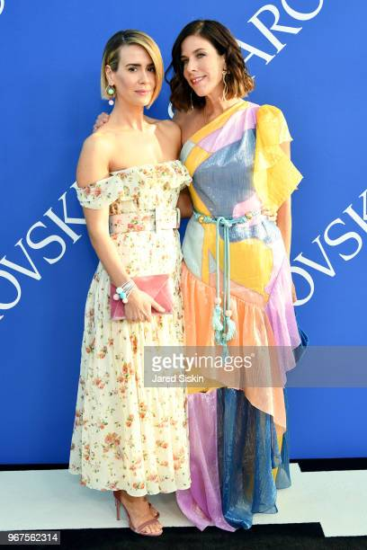 Sarah Paulson and Irene Neuwirth attend the 2018 CFDA Fashion Awards at Brooklyn Museum on June 4 2018 in New York City