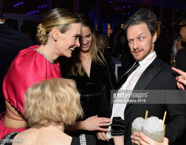 Sarah Paulson and James McAvoy attend the 2019 Vanity Fair Oscar Party hosted by Radhika Jones at Wallis Annenberg Center for the Performing Arts on...