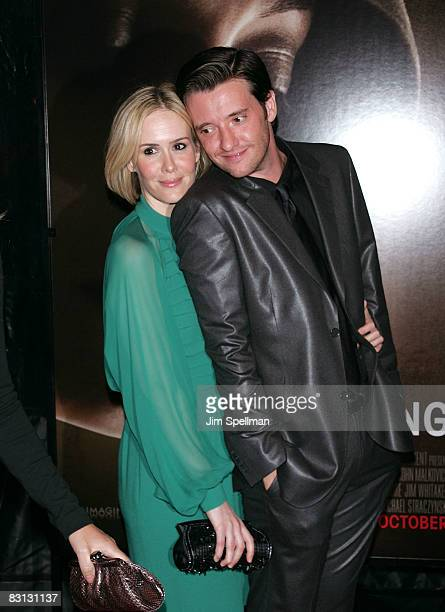Sarah Paulson and Jason Butler Harner attend the premiere of Changeling during the 46th New York Film Festival at the Ziegfeld Theater on October 4...