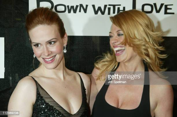 Sarah Paulson and Jeri Ryan during 2003 Tribeca Film Festival Down With Love World Premiere at Tribeca Performing Arts Center 199 Chambers Street in...
