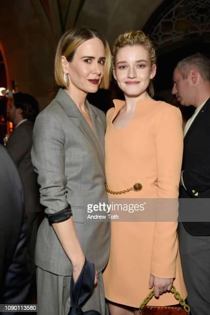 Sarah Paulson and Julia Garner attend Entertainment Weekly Celebrates Screen Actors Guild Award Nominees sponsored by L'Oreal Paris Cadillac And...