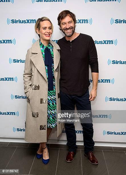 Sarah Paulson and Mark Duplass visit at SiriusXM Studio on October 7 2016 in New York City