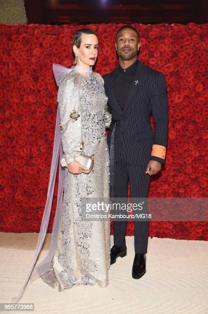 Sarah Paulson and Michael B Jordan attend the Heavenly Bodies Fashion The Catholic Imagination Costume Institute Gala at The Metropolitan Museum of...