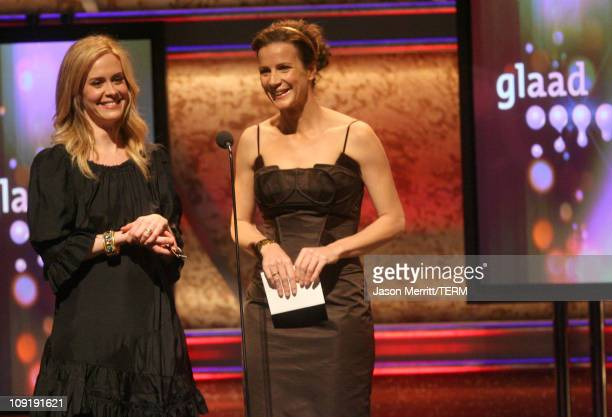 Sarah Paulson and Rachel Griffiths during 18th Annual GLAAD Media Awards Show at Kodak Theatre in Hollywood California United States