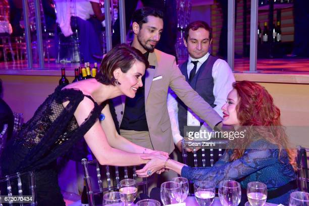 Sarah Paulson and Riz Ahmed attend the 2017 TIME 100 Gala at Jazz at Lincoln Center on April 25 2017 in New York City