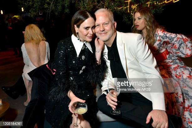 Sarah Paulson and Ryan Murphy attend the 2020 Vanity Fair Oscar Party hosted by Radhika Jones at Wallis Annenberg Center for the Performing Arts on...