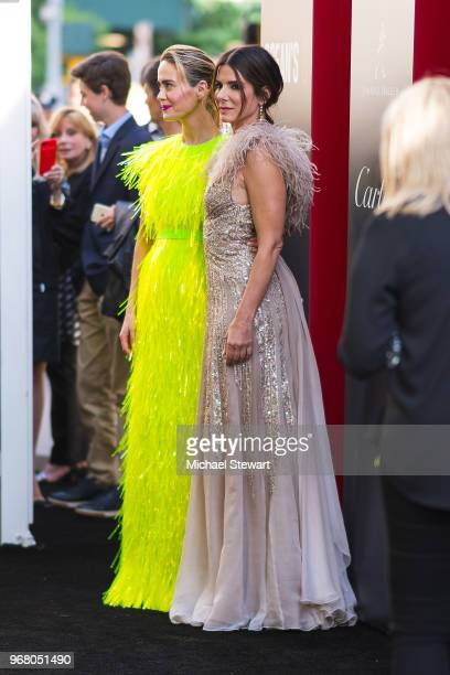 Sarah Paulson and Sandra Bullock attend the 'Ocean's 8' World Premiere at Alice Tully Hall on June 5 2018 in New York City