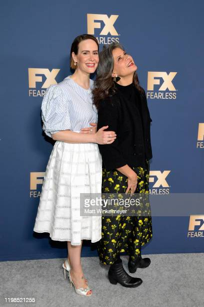 Sarah Paulson and Tracey Ullman of 'Mrs America' attend the FX Networks' Star Walk Winter Press Tour 2020 at The Langham Huntington Pasadena on...