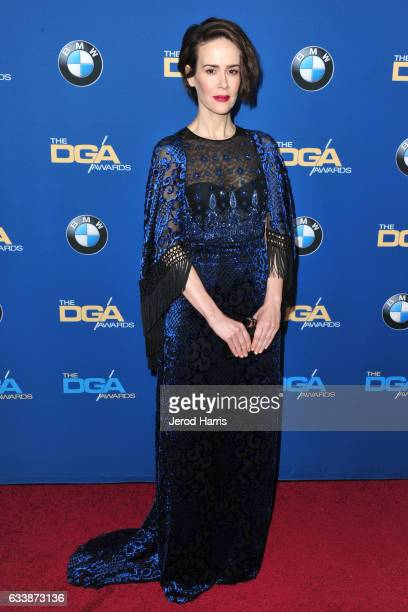 Sarah Paulson arrives at the 69th Annual Directors Guild of America Awards at The Beverly Hilton Hotel on February 4 2017 in Beverly Hills California