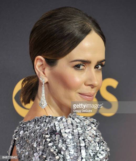 Sarah Paulson arrives at the 69th Annual Primetime Emmy Awards at Microsoft Theater on September 17, 2017 in Los Angeles, California.