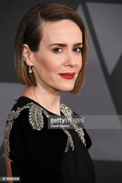 Sarah Paulson arrives at the Academy Of Motion Picture Arts And Sciences' 9th Annual Governors Awards at The Ray Dolby Ballroom at Hollywood Highland...