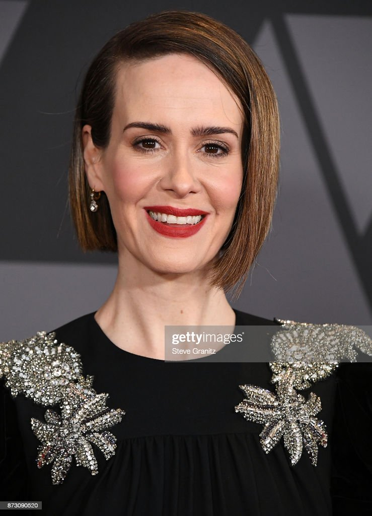 Sarah Paulson arrives at the Academy Of Motion Picture Arts And Sciences' 9th Annual Governors Awards at The Ray Dolby Ballroom at Hollywood & Highland Center on November 11, 2017 in Hollywood, California.