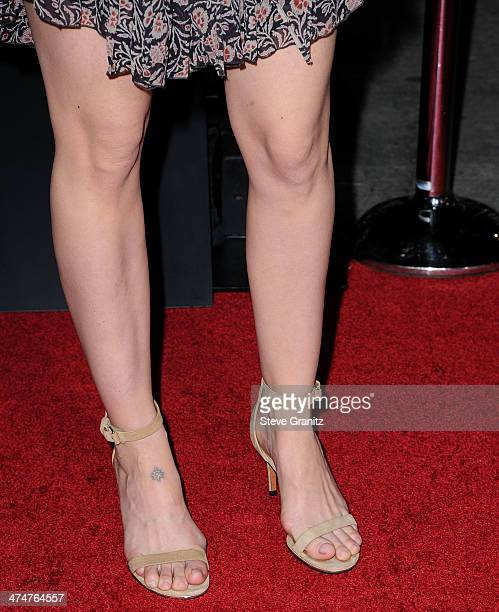 Sarah Paulson arrives at the NonStop Los Angeles Premiere at Regency Village Theatre on February 24 2014 in Westwood California