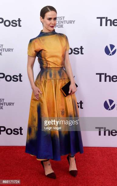 Sarah Paulson arrives at 'The Post' Washington DC Premiere at The Newseum on December 14 2017 in Washington DC